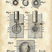 Golf Ball Patent 1902 - Vintage Art Print