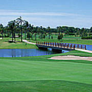 Golf Course Gold Coast Queensland Art Print