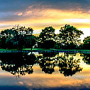 Golf Course Panorama Art Print