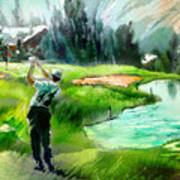 Golf In Crans Sur Sierre Switzerland 01 Art Print