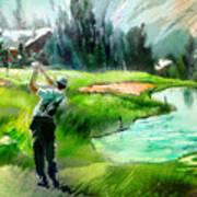Golf In Crans Sur Sierre Switzerland 01 Art Print
