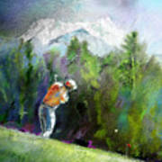 Golf In Crans Sur Sierre Switzerland 02 Art Print