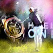 Golf In Crans Sur Sierre Switzerland 03 Art Print