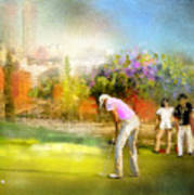 Golf Madrid Masters  02 Art Print