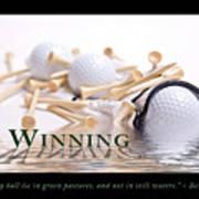 Golf Motivational Poster Art Print