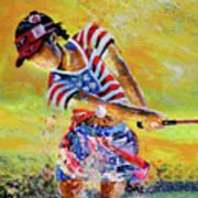 Golf Sandsation Art Print