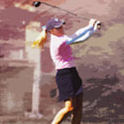 Golfer Art Print