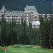Golfer Heaven In Banff Art Print