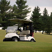 Golfing Golf Cart 01 Art Print