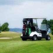 Golfing Golf Cart 03 Art Print