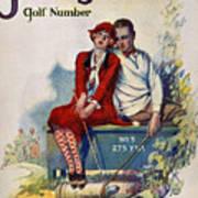 Golfing: Magazine Cover Art Print