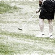 Golfing Putting The Ball 01 Pa Art Print