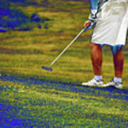 Golfing Putting The Ball 02 Pa Art Print