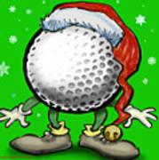 Golfmas Art Print
