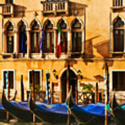Gondola Parking Only Art Print