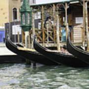 Gondola Pier Art Print