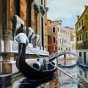 Gondola Ride On Venice Italy Canal Art Print
