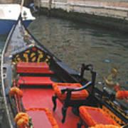 Gondola Rossa Venice Italy Art Print by Italian Art