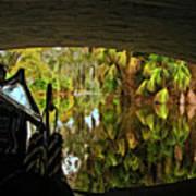 Gondola Under A Bridge Art Print