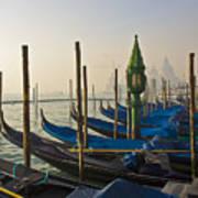 Gondolas At San-marco, Venice, Italy Art Print