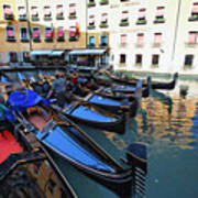 Gondolas In Orseolo Basin Venice Art Print