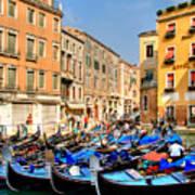 Gondolas In The Square Art Print