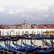 Gondolas In Venice Art Print