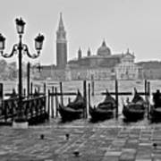 Gondolas Of San Marco Square Art Print