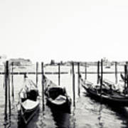 Gondolas Of Venice Art Print
