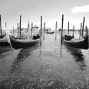 Gondolier In The Distance Art Print