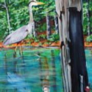 Gone Fishin Art Print
