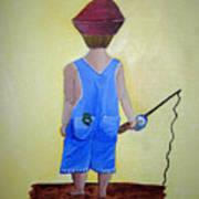 Gone Fishing 2 Art Print