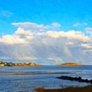 Good Harbor Clouds And Sun Art Print
