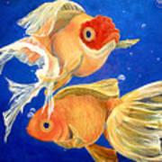 Good Luck Goldfish Art Print