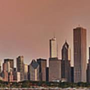 Good Morning Chicago Panorama Art Print