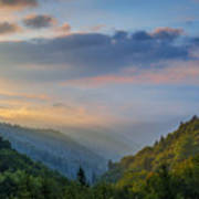 Good Morning From The Smokies. Art Print