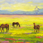 Good Morning Horses Art Print
