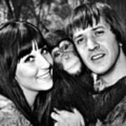 Good Times, Cher, Sonny Bono, On Set Art Print