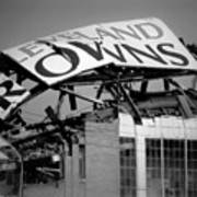 Goodbye Cleveland Stadium Art Print