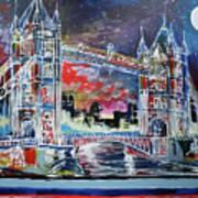 Goodnight Tower Bridge Art Print