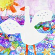 Goose At The Beach Art Print
