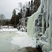 Gooseberry Frozen Falls Art Print