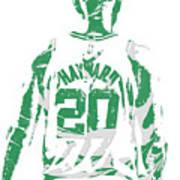 Gordon Hayward Boston Celtics Pixel Art T Shirt 5 Art Print