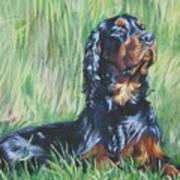 Gordon Setter In The Grass Art Print