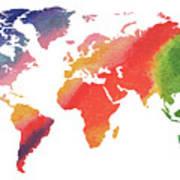 Gorgeous rainbow world map painting by irina sztukowski gorgeous rainbow world map poster gumiabroncs Gallery