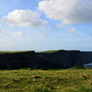 Gorgeous Seascape Along The Cliffs Of Moher In Ireland Art Print