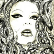 Gorgon Art Print by Justin Kautz