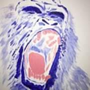 Gorilla Roars Art Print