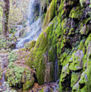 Gorman Falls At Colorado State Park II - San Saba Texas Hill Country Art Print
