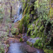 Gorman Falls At Colorado State Park - San Saba Texas Hill Country Art Print